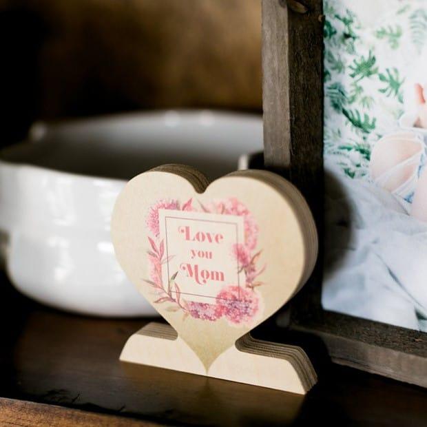 Custom Wooden Photo Hearts