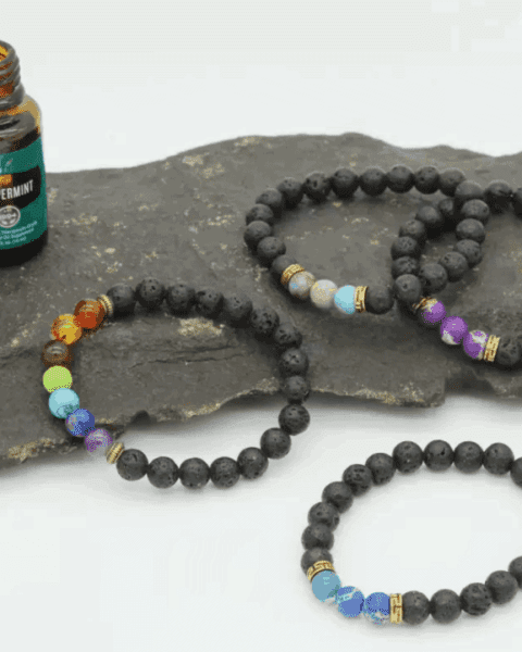 Natural Lava Essential Oil Bracelets