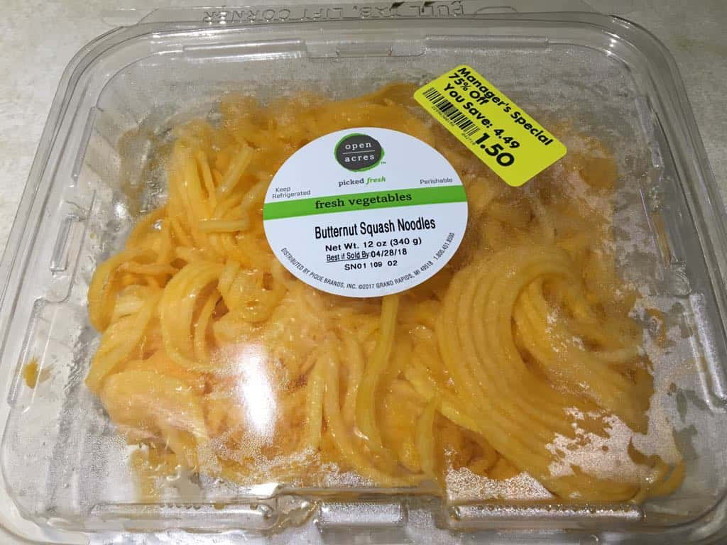 Spaghetti squash on sale.