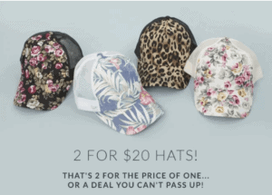 Get Two Ball Caps for $20 Shipped!