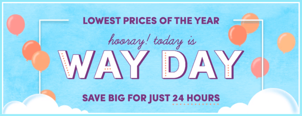 Wayfair Way Day Deals Up to 80% off