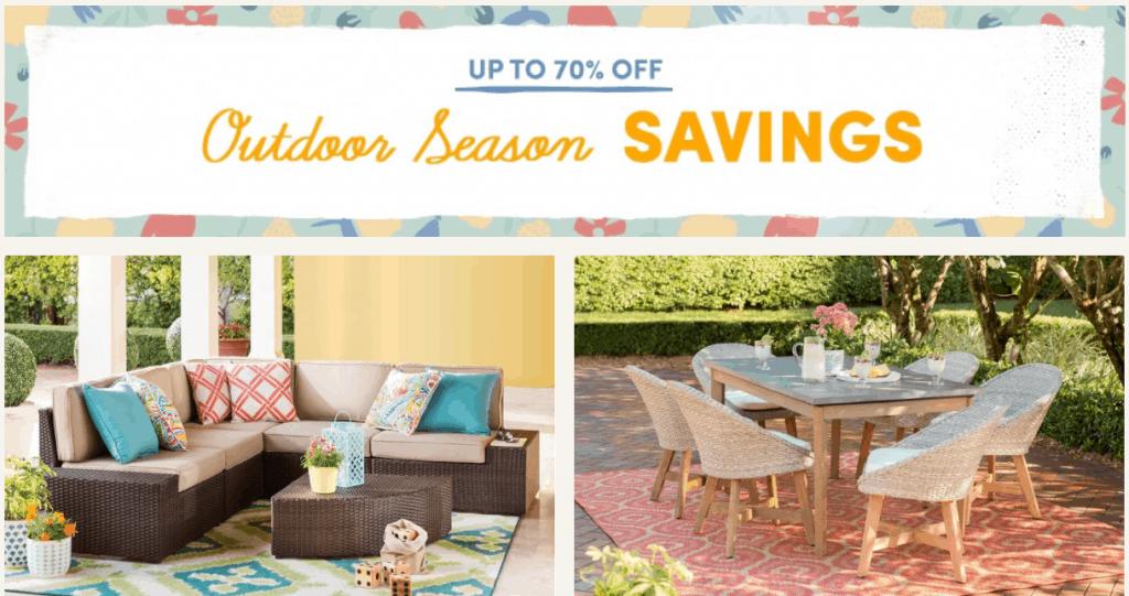 Wayfair 70% Off Outdoor Sale