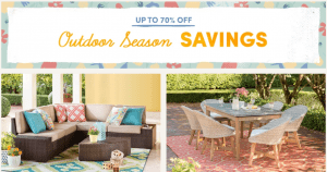 Wayfair 70% Off Outdoor Season Sale + 10% Off Coupon