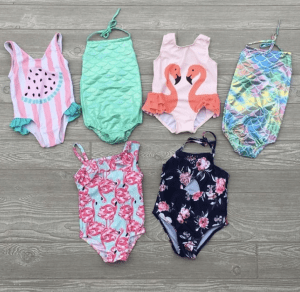 Girl's One Piece Bathing Suits $12.99