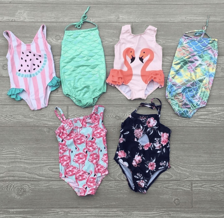 Girl\'s One Piece Bathing Suits