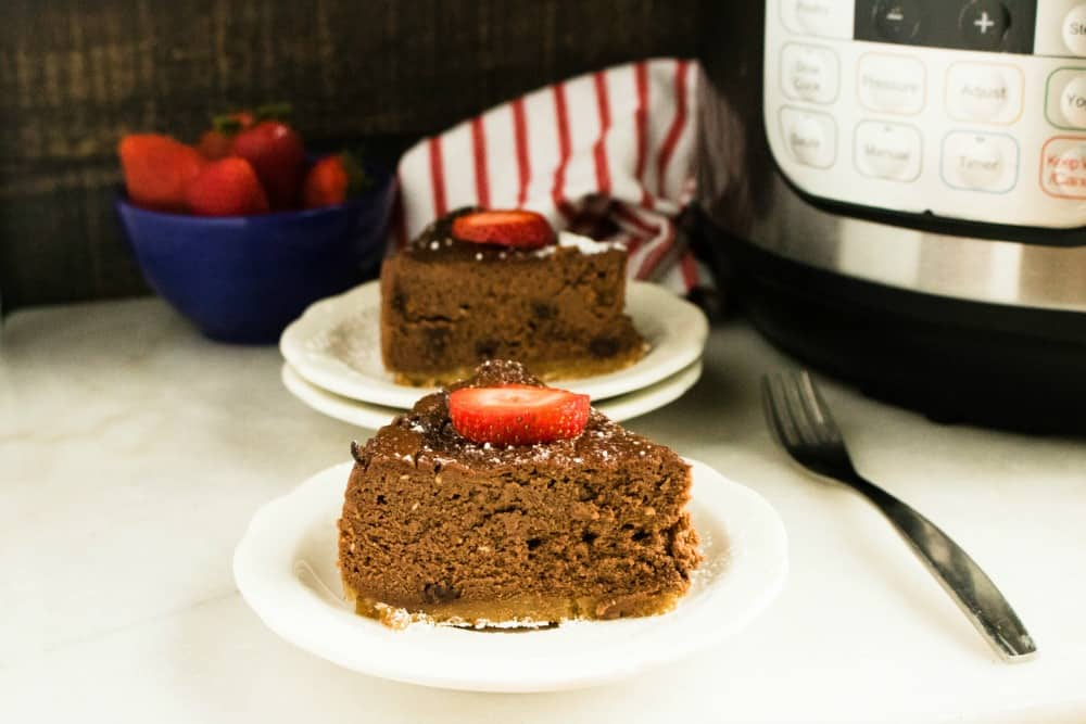 Instant Pot Chocolate Amaretto Cheesecake Recipe