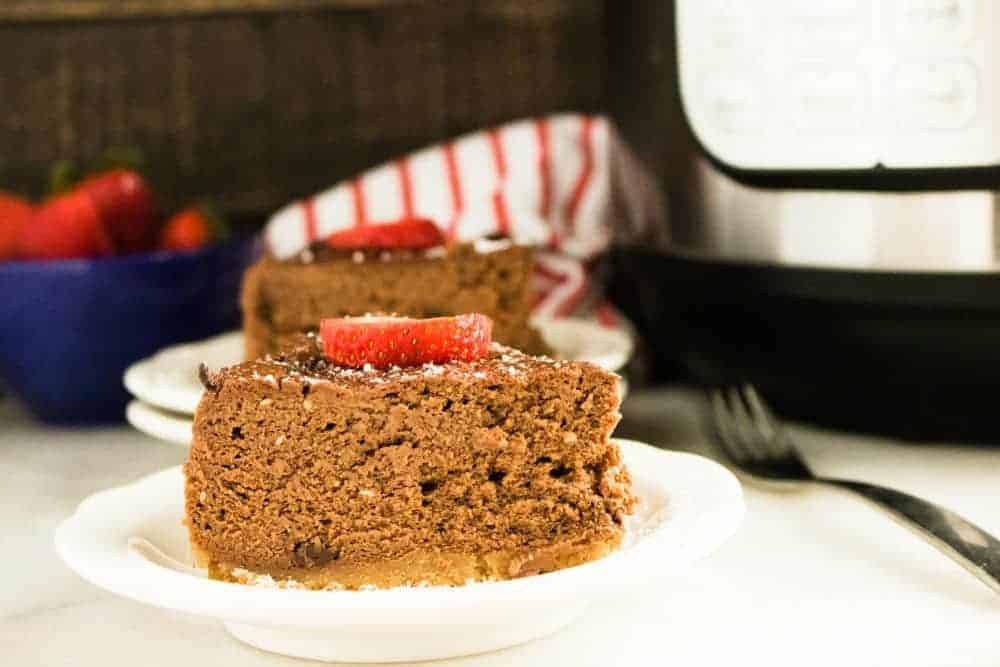 Instant Pot Chocolate Amaretto Cheesecake