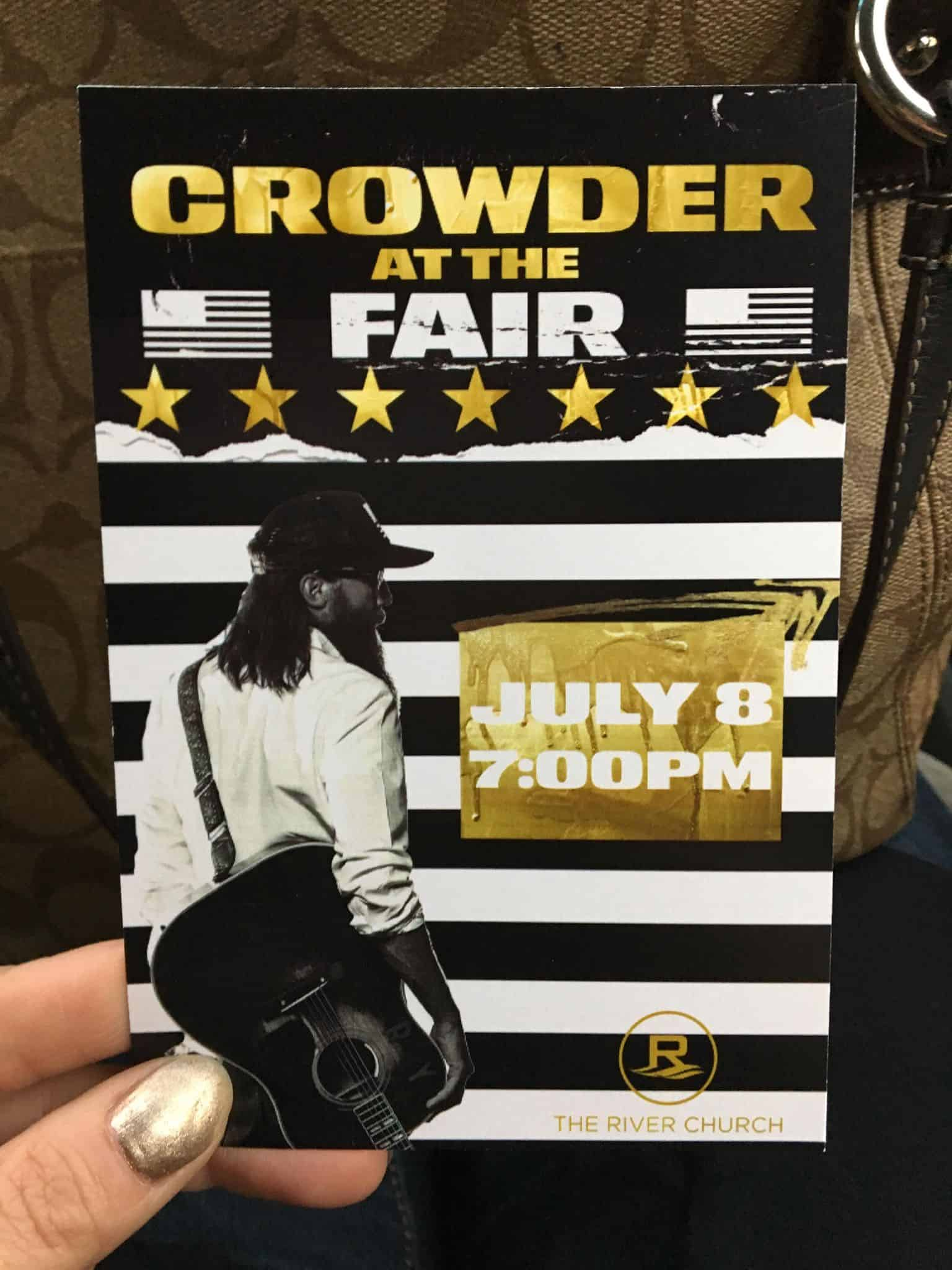 Crowder at the fair.