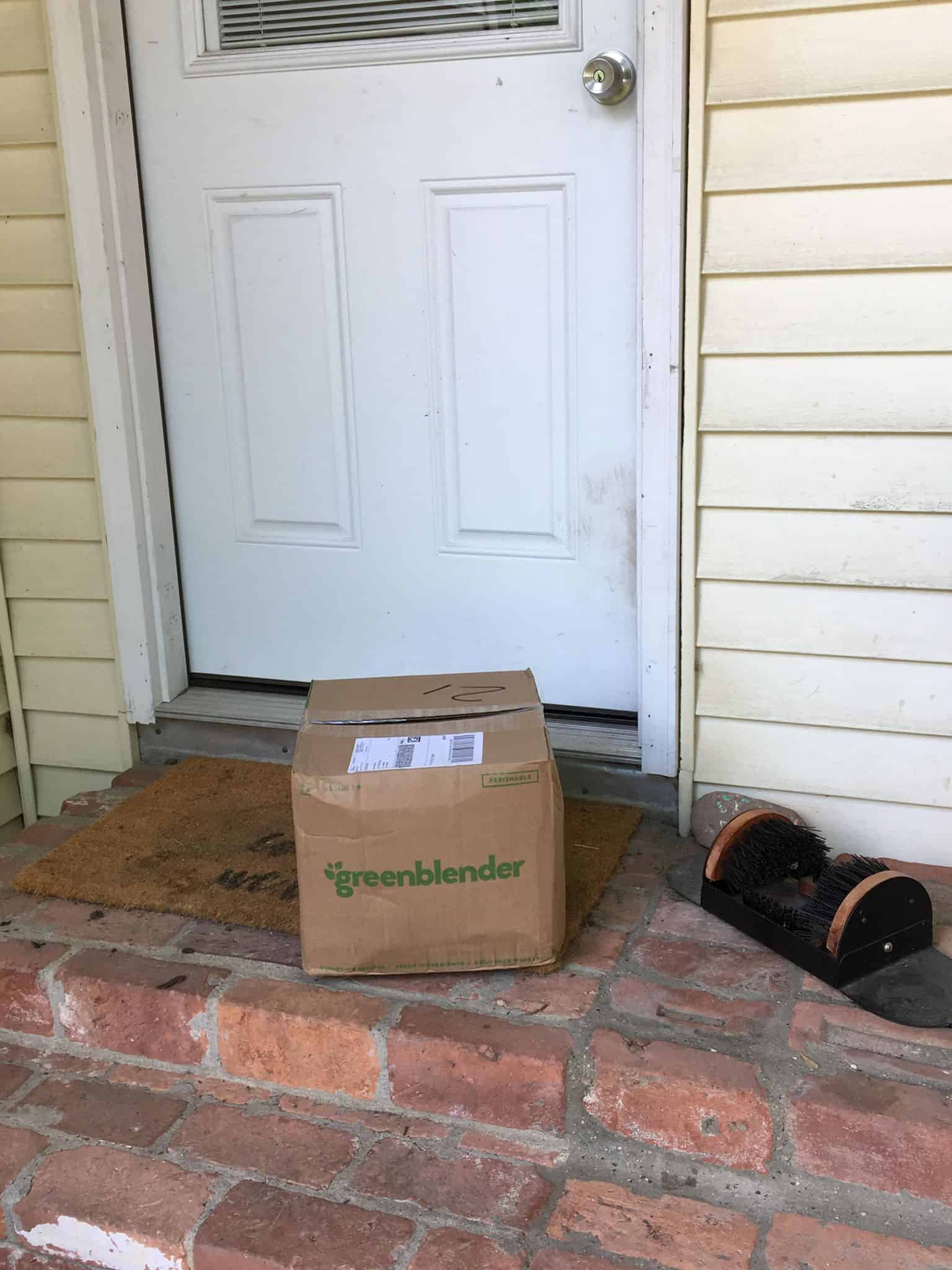 GreenBlender package in the doorstep.