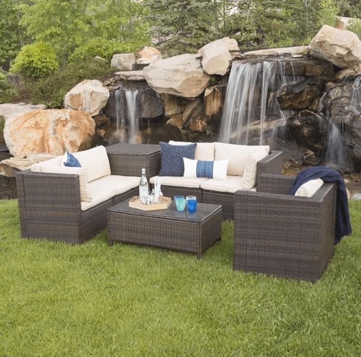 7-Piece Modern Rattan Outdoor Furniture Set