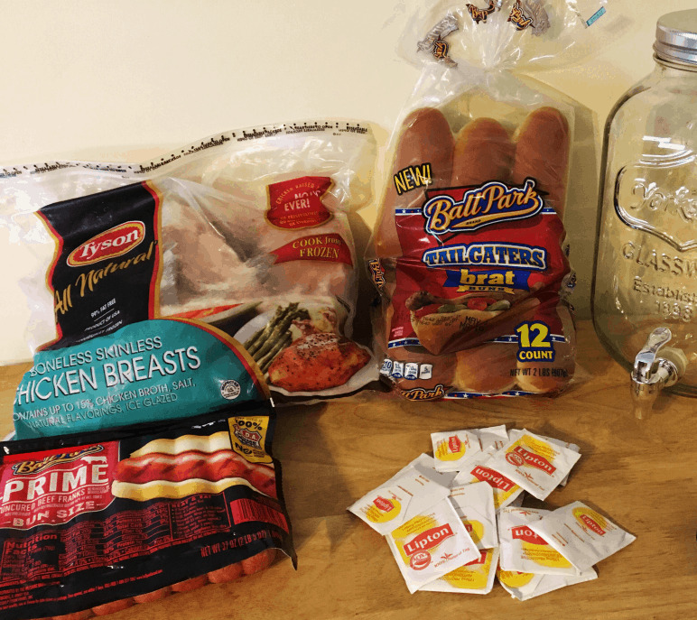 Tyson brand products for an easy BBQ.