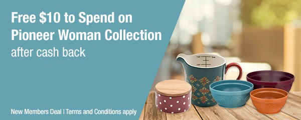 Get $10 to Spend the Pioneer Woman Collection FREE