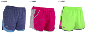 Under Armour Women's Running Shorts $14.99 Shipped