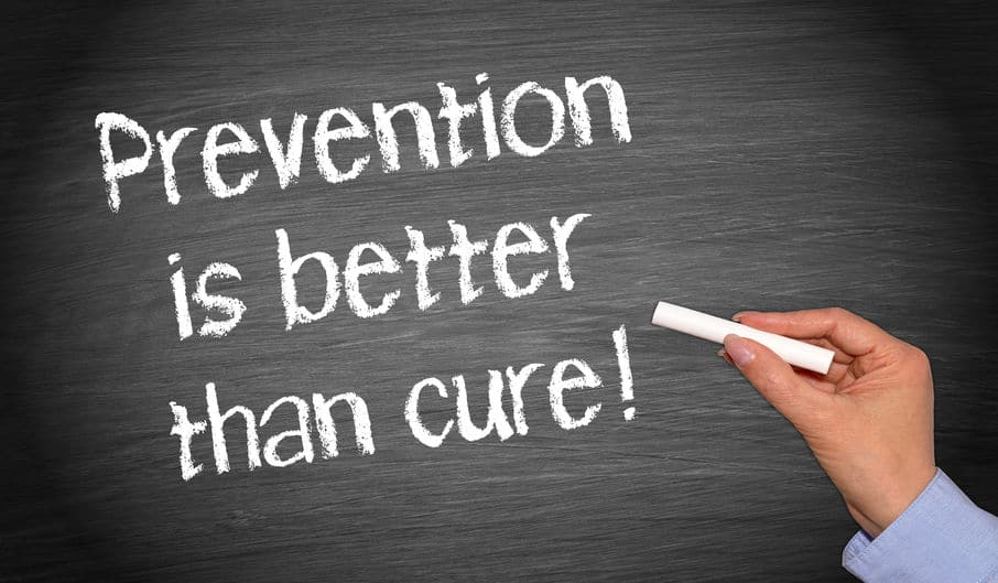 Prevention is better than cure sign.