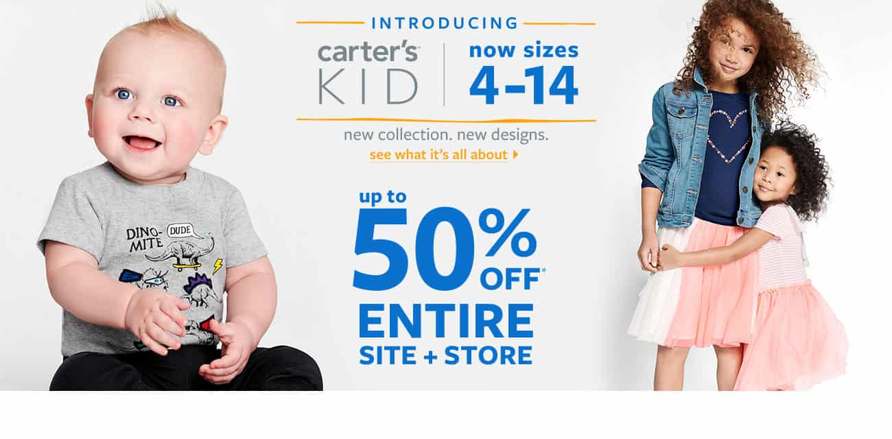 Carter\'s 50% off Sale + $10 to Spend FREE!