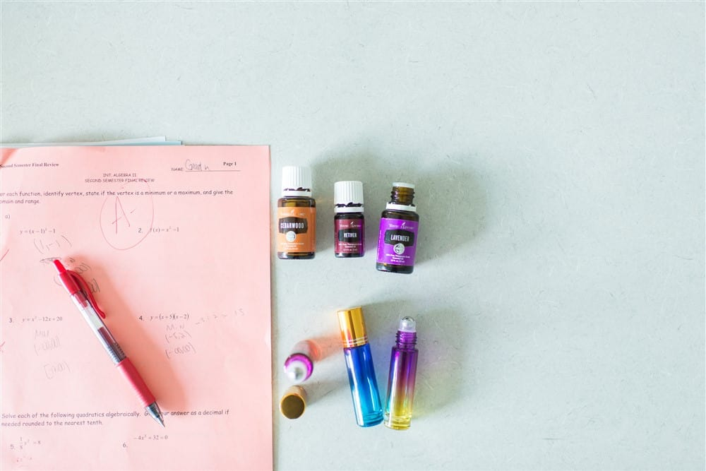 Essential oils and school work.