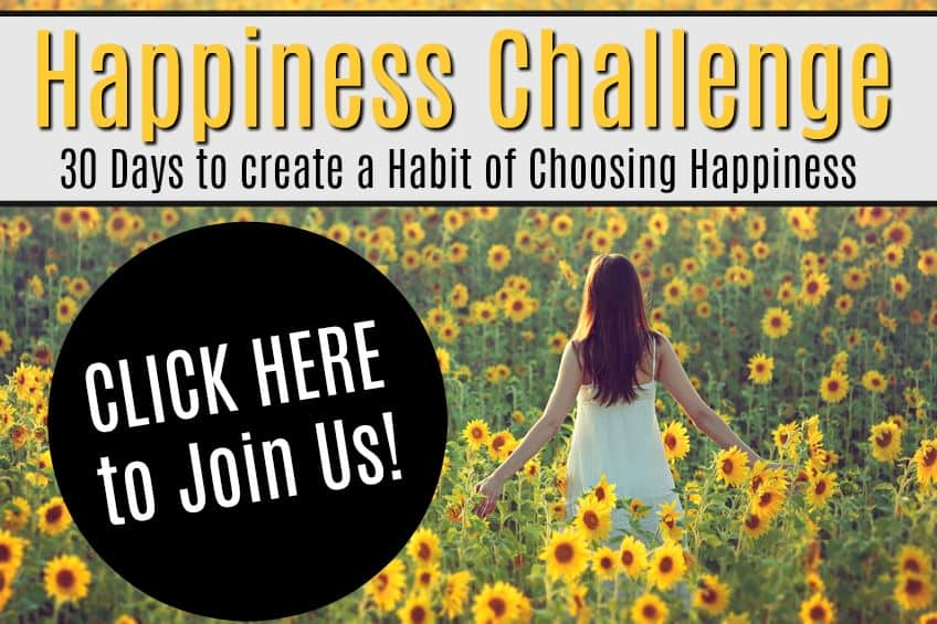 Happiness challenge. 30 days to create a habit of choose happiness.