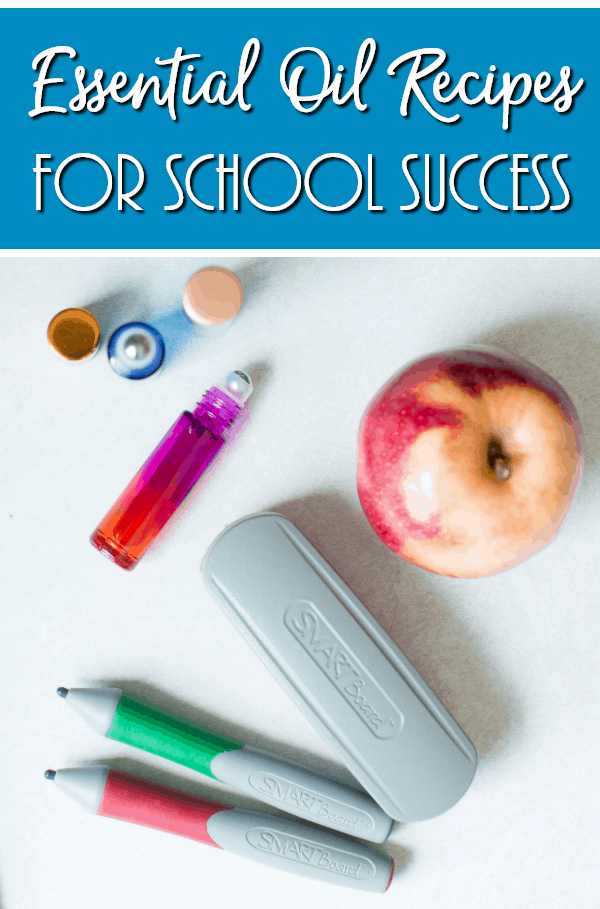 These back to school rollerball blends include essential oil recipes for school success that are great for helping wake your child up for the day, focus and clear their mind, and even ease stress from the big test ahead of them!