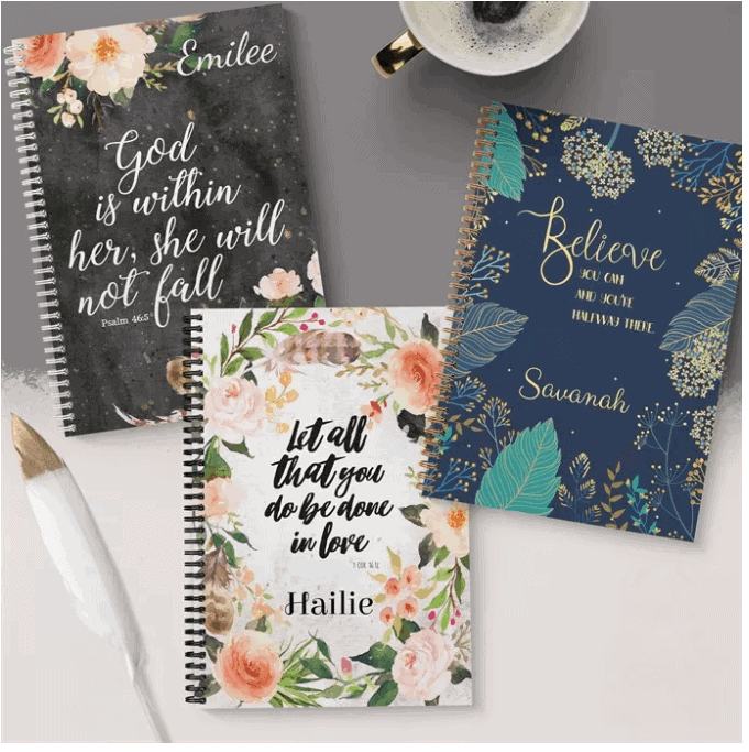 Personalized Hardcover Journal Notebooks