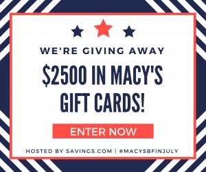 Macy's $2500 Gift Card Giveaway (50 Winners)