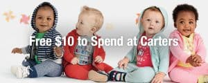 Carter's 50% off Sale + $10 to Spend FREE!