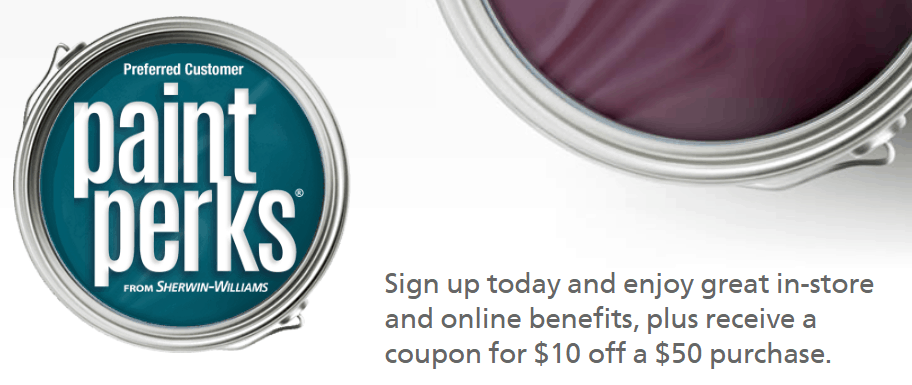 Coupon and Sherwin-Williams