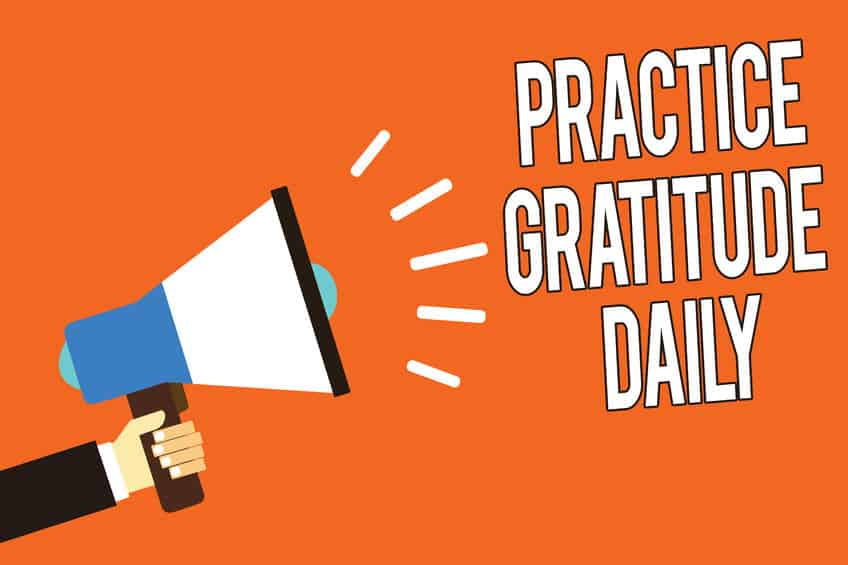 How to practice gratitude daily.