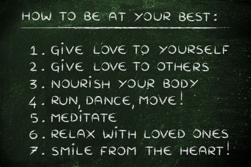 A list of ways to be your best self.