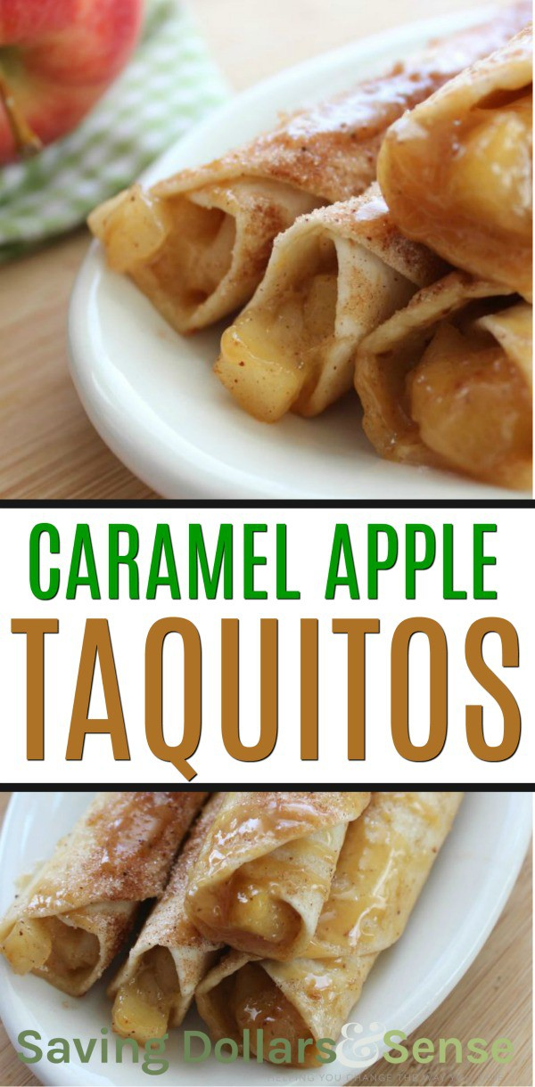 homemade caramel apple taquitos
