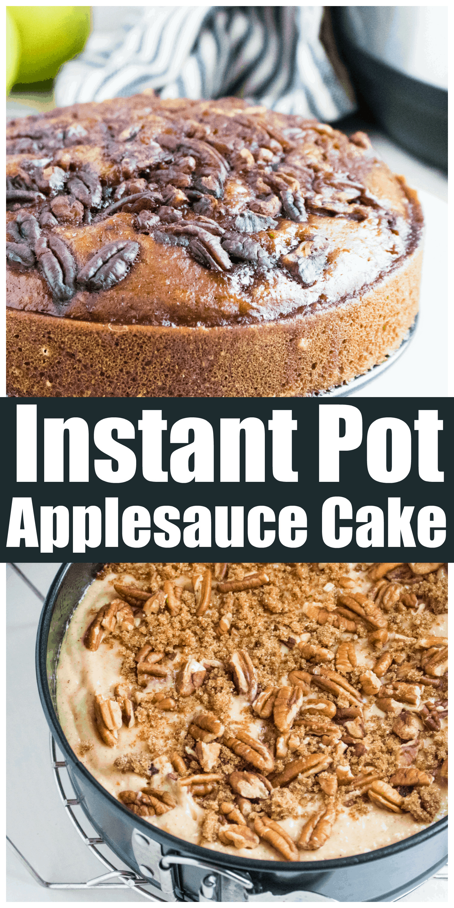 Instant Pot Old Fashioned Applesauce Cake