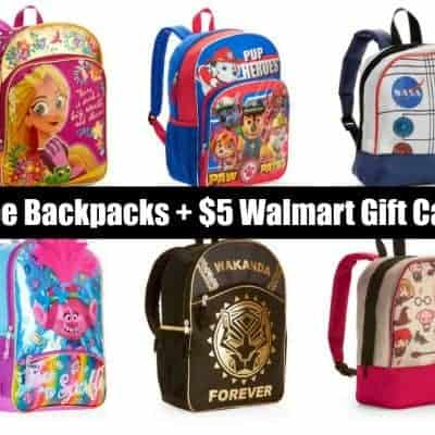 FREE Backpack + $5 Walmart eGift Card