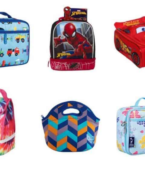 several kids lunchbags