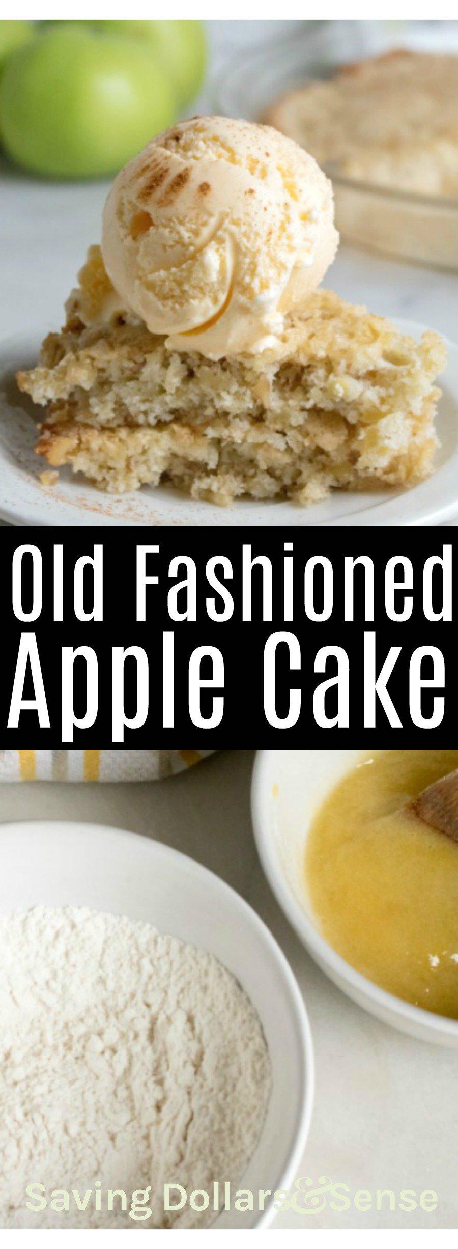Old fashioned apple dump cake.