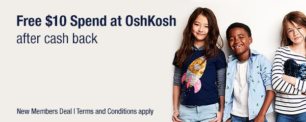 OshKosh - $10 FREE + 60% Off & Free Shipping