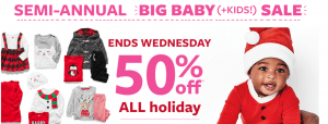 Carters $10 FREE + Up to 75% Off Coupon