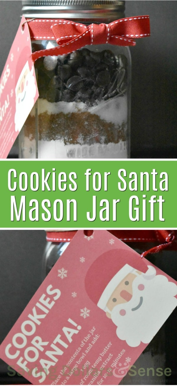 Mason Jar Cookies for Santa Gift