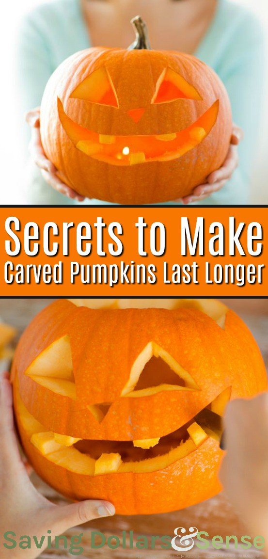 How to Keep Pumpkins From Rotting. Secrets to make carved pumpkins last longer.