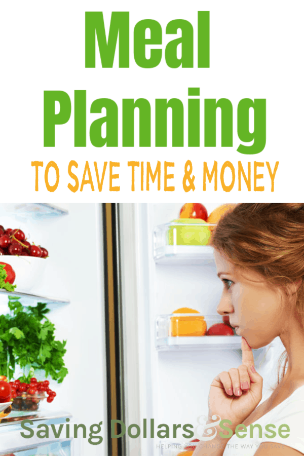 How meal planning saves time and money.