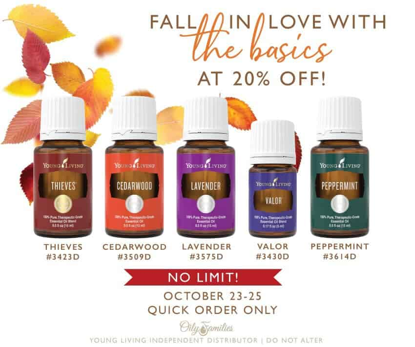 Young Living Fall Favorites 20% Off Sale