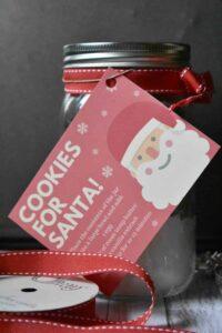 Mason Jar Cookies for Santa Gift