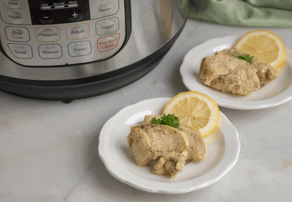 Lemon Garlic Instant Pot Chicken Breast