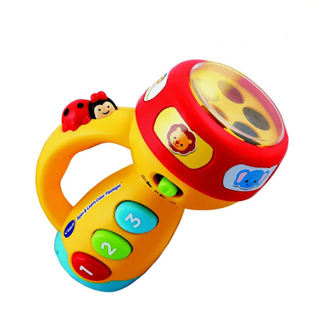vtech spin and learn color flashlight pink