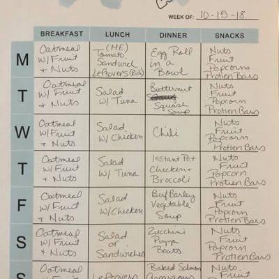 SD&S Weekly Meal Plans (Week of 10/15)