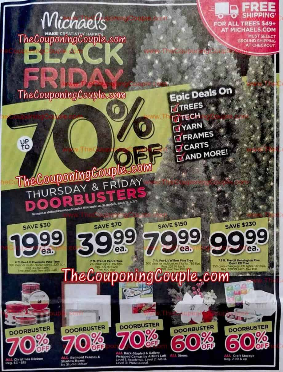 Black Friday and Michaels
