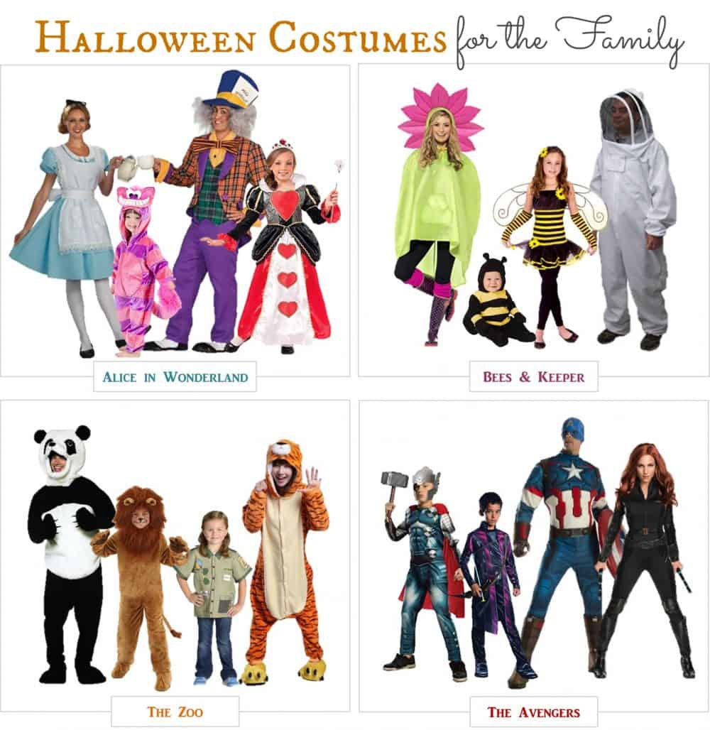 Matching Halloween costumes for the entire family.