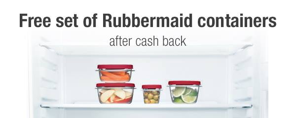Free Rubbermaid Storage Container Set