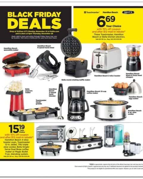 Kohl's Black Friday Small Kitchen Appliances sale.