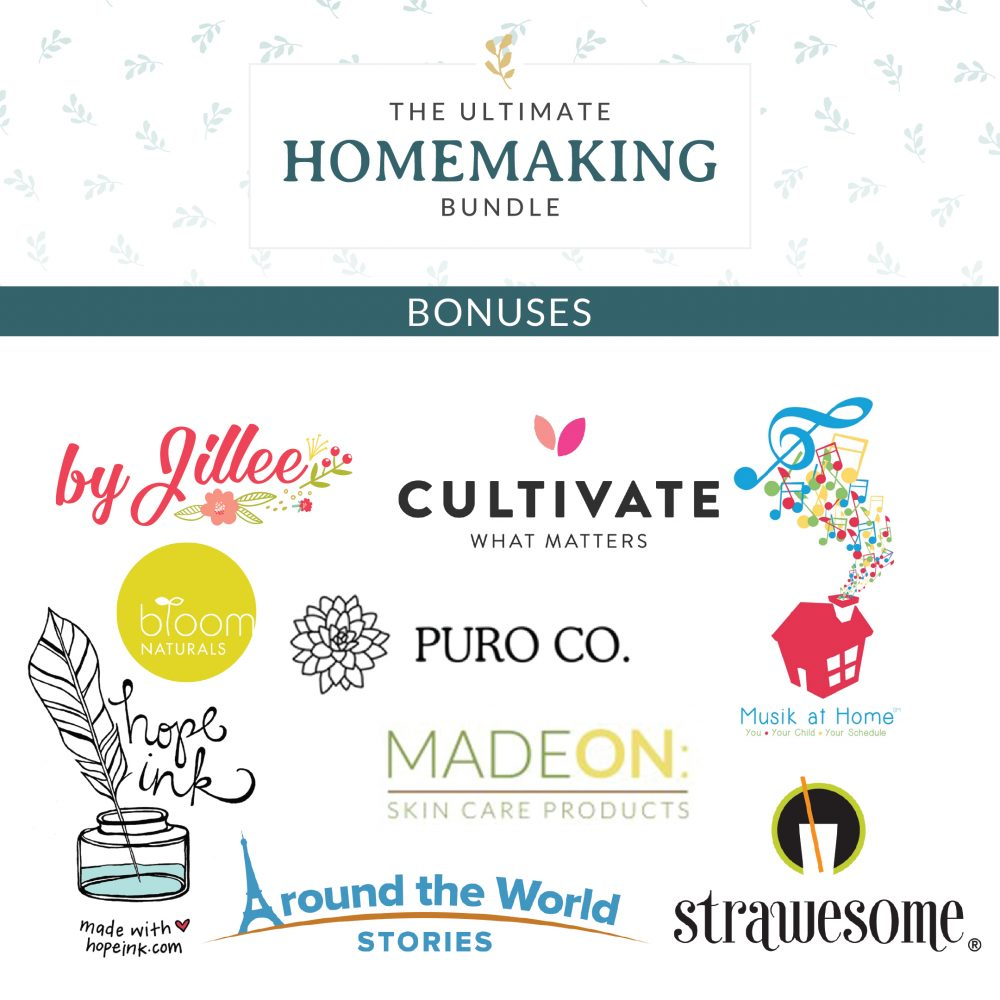 Bonus offers for this years Ultimate Homemaking Bundle sale.