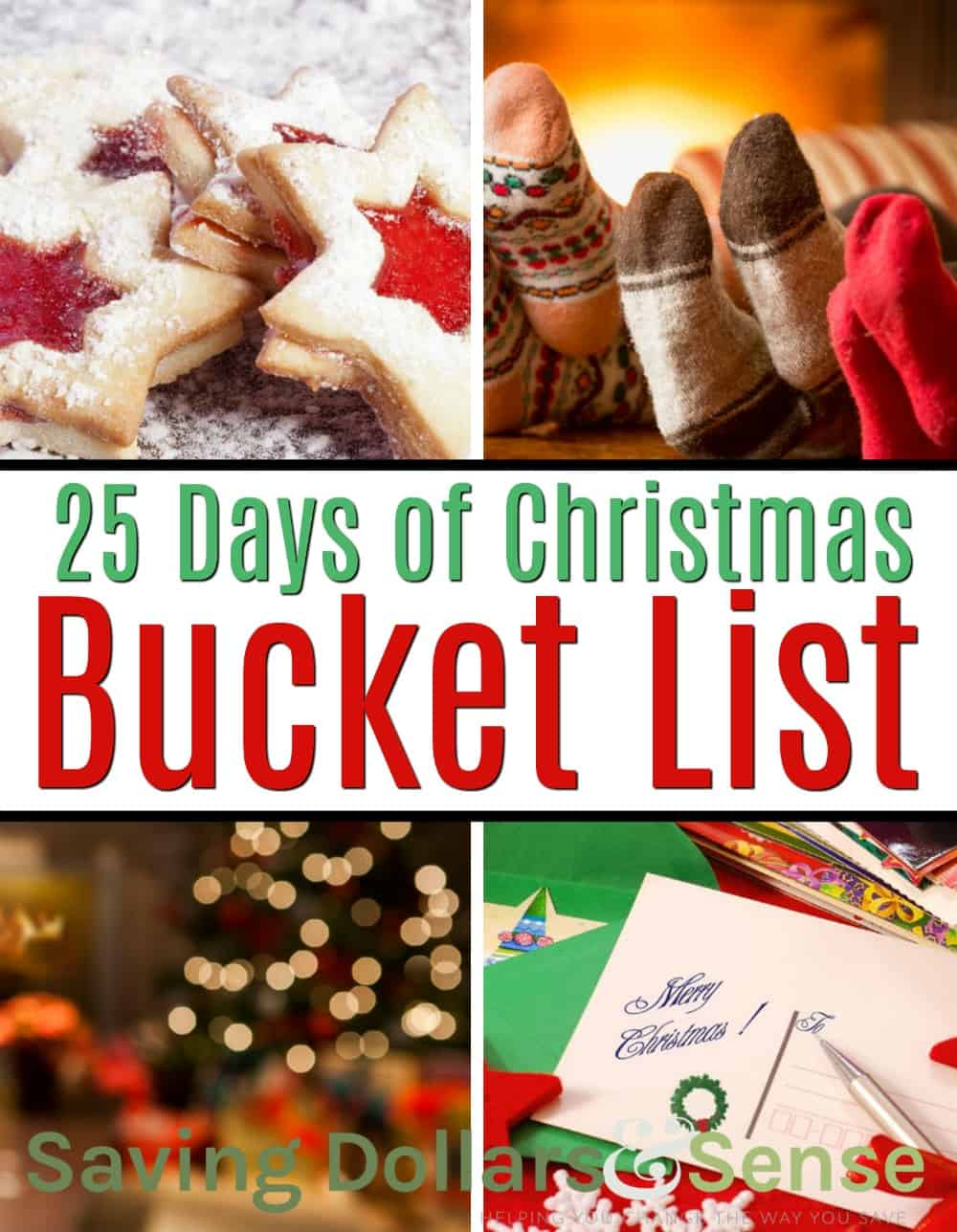 25 Days of Christmas Bucket List and family fun activities.