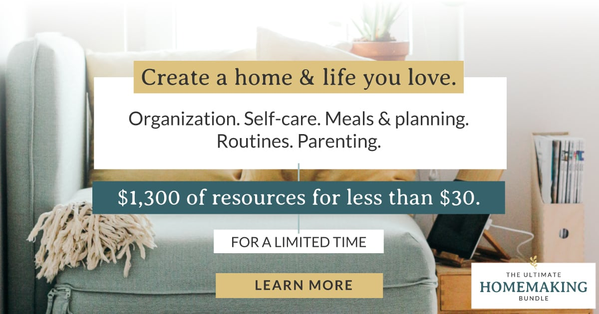 Create a home and life you love with this years Ultimate Homemaking Bundle sale.